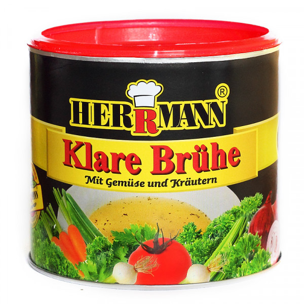 Herrmann klare Brühe mit Gemüse und Kräutern